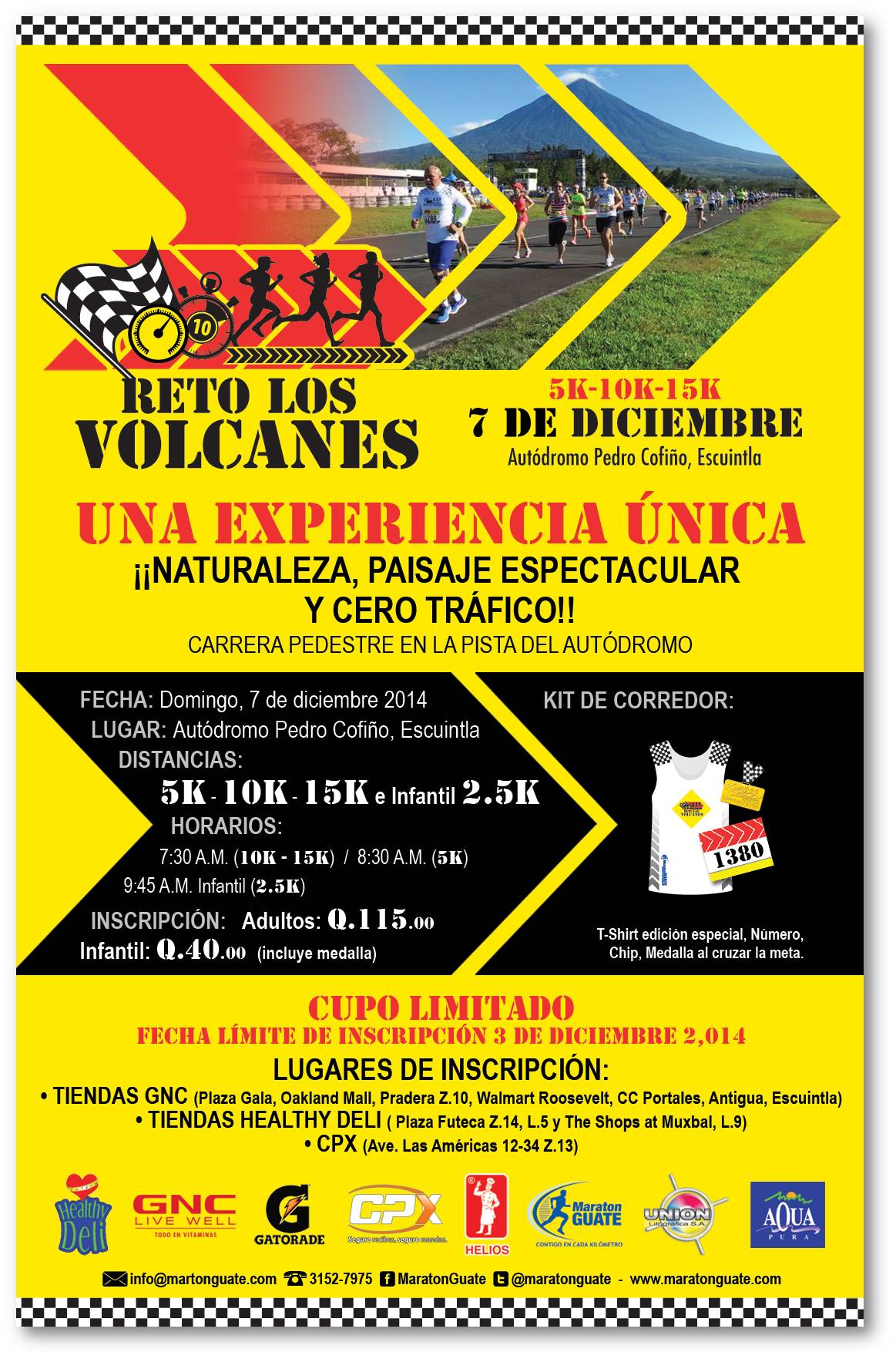 Calendario Autodromo Pedro Cofino 2019.Principales Carreras Organizadas Maratonguate